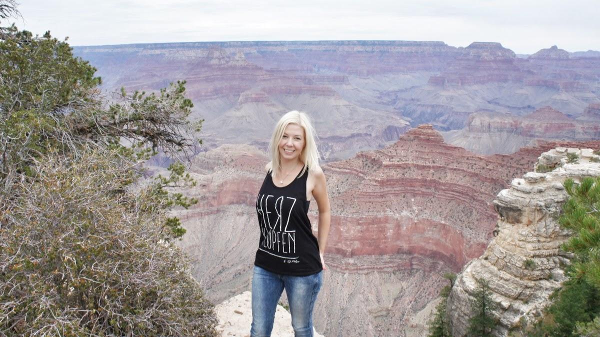 zuckerblond am Gran Canyon